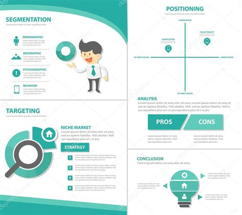 Colorful Infographic Presentation Template Brochure Flyer Colorful Presentation Templates Infographic Elements Flat