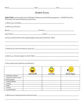 upper elementary  middle school student survey  sarah