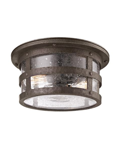 troy lighting c3310 barbosa 2 light outdoor flush mount