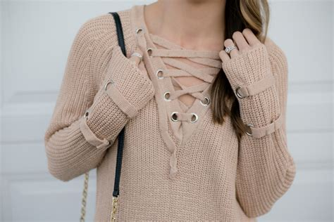 lace  knit sweater otk boots  styled press