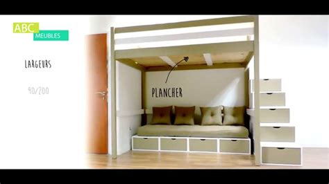 chambre 160x200 lit mezzanine sylvia abc meubles