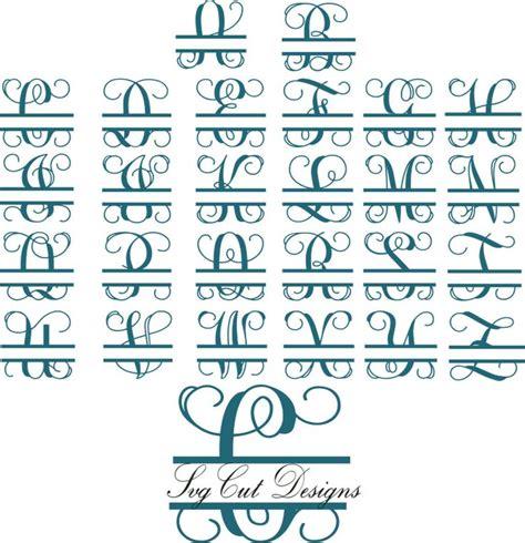 split letter svg split monogram letters split alphabet svg files vector files  silhouette
