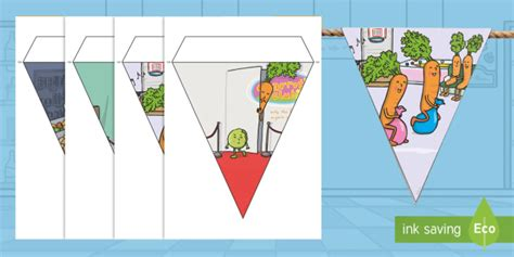 * New * Carrot Club Display Bunting  Originals, Fiction, Ks1, Healthy Eating