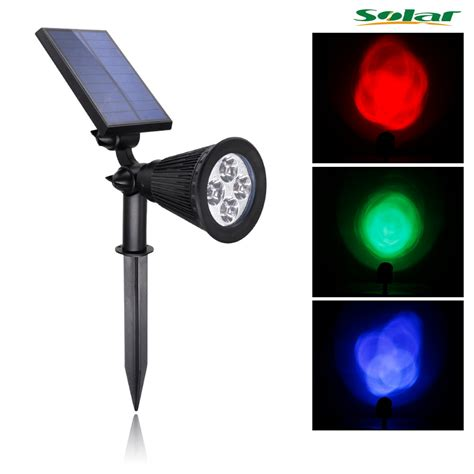 rgb 4led solar light outdoor waterproof solar power