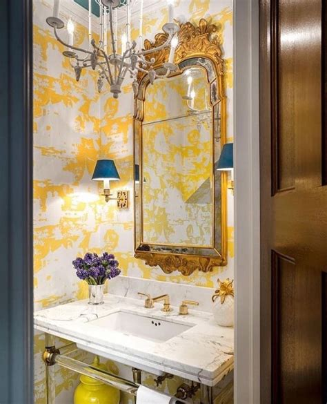 powder room wallpaper ideas  pinterest