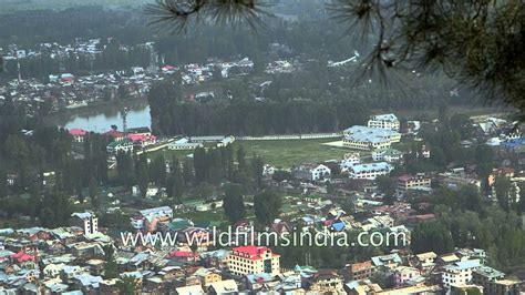 lovely aerial  srinagar city  shankaracharya temple