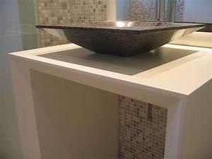 Meuble Salle De Bain Peu Profond : fabrication meuble salle de bain bois toulouse ~ Edinachiropracticcenter.com Idées de Décoration