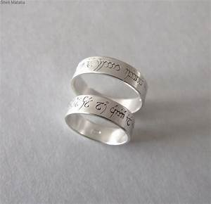 two silver elven love rings wedding bands lord of ther With fantasy wedding rings