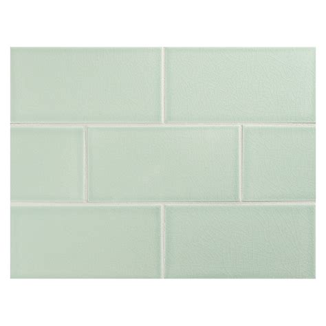 vermeere ceramic tile green crackle 3 quot x 6
