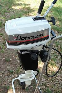 Used 2 5 Hp Johnson Outboard Boat Motor