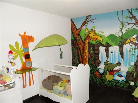 chambre garcon jungle deco chambre garcon theme jungle