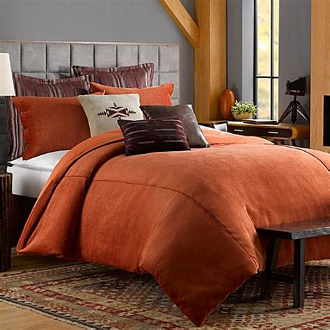 Chenille Duvet Cover by Solid Chenille Duvet Cover In Picante Bed Bath Beyond