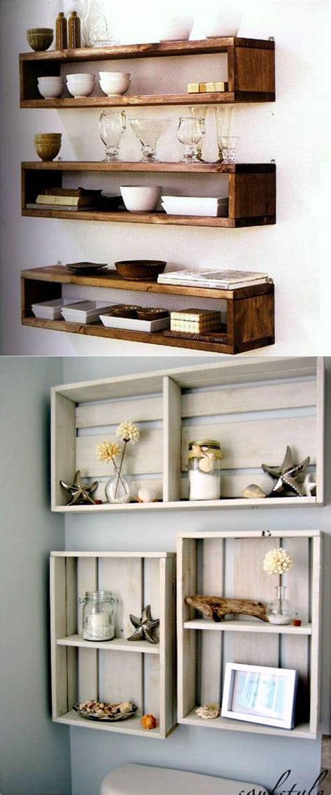 easy  stylish diy floating shelves wall shelves