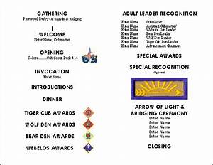 blue gold cub scout ideas party invitations ideas With cub scout blue and gold program template