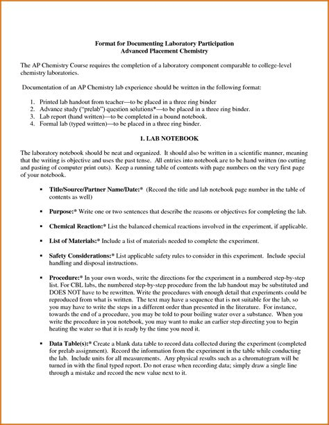 chemistry lab report template 8 ib chemistry lab report format lease template