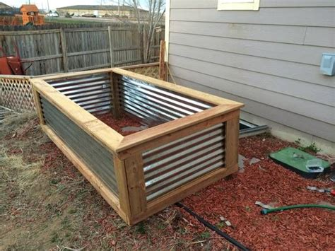 17 best images about corrugated metal garden beds on