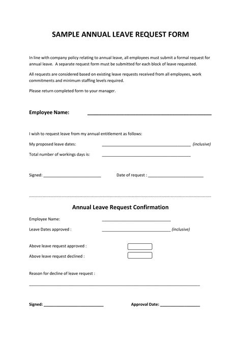 leave request form examples  examples