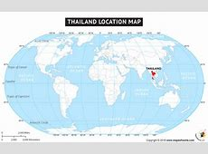 Where Is Thailand Located? Location map of Thailand