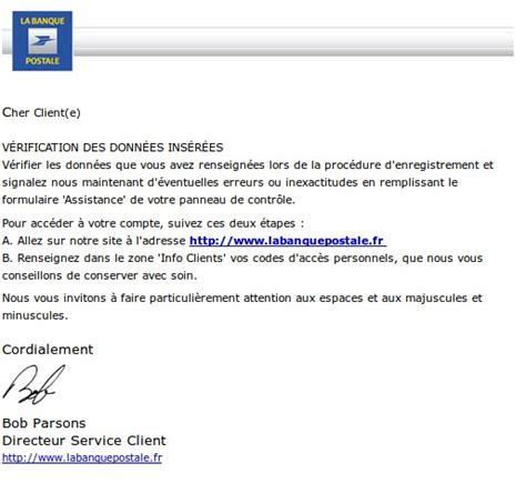 si鑒e la banque postale banque postale signaler une fraude un faux site de la banque