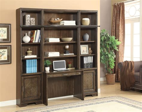 Bookcase Wall Units by The Meridien Library Desk And Bookcase Wall Unit