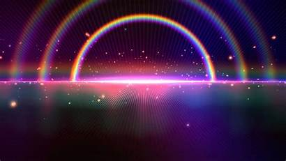 Background Rainbow 4k Space Horizon Sparkling Backgrounds
