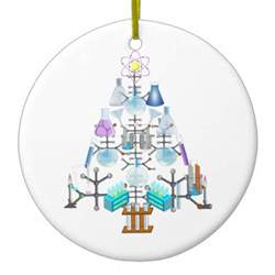 oh chemistry oh chemist tree christmas ornaments zazzle