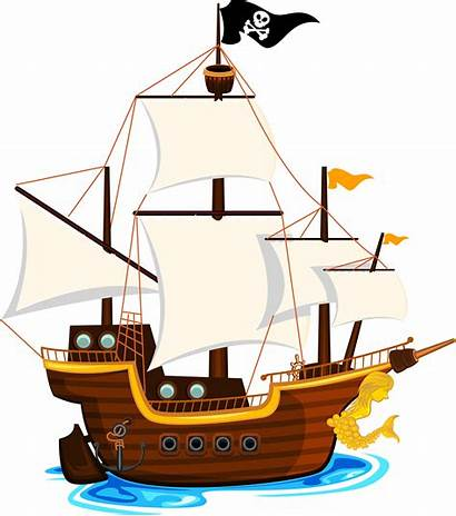 Pirate Ship Transparent Clipart Clip Ships Boat