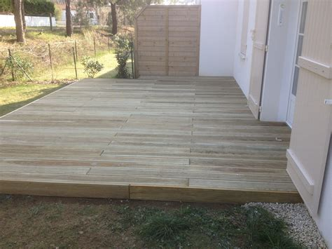 terrasse pin classe 4 bois