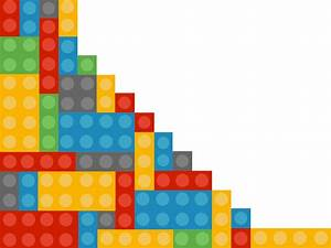 Lego Powerpoint Template Backgrounds - 3D, Blue, Games