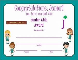 112 best junior girl scouts images on pinterest brownie With girl scout award certificate templates