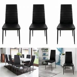 Lot De 6 Chaises Pas Cher : lot de 6 chaises noires pas cher pour salle manger id market ~ Teatrodelosmanantiales.com Idées de Décoration