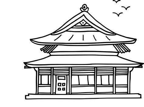 coloriage maison chinoise 224 imprimer