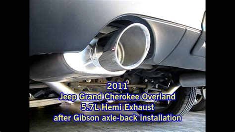 jeep grand cherokee overland  gibson exhaust