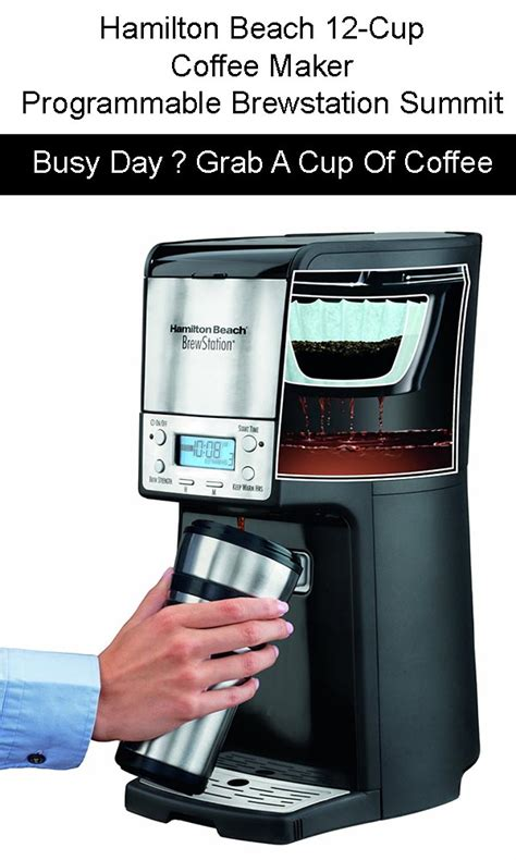 Keurig coffee maker is one of the favourite online stores for buying hamilton beach coffee maker user manual at much lower prices than you would pay if shopping on other similar services. Hamilton Beach 12 Cup Coffee Maker, Programmable Brewstation Summit Dispensing Coffee Machine Review