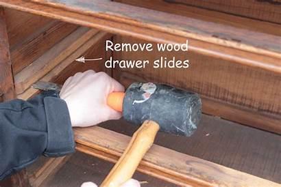 Drawer Slides Dresser Install Drawers Step