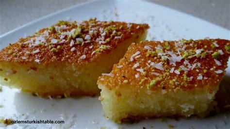 revani  deliciously moist semolina cake  syrup