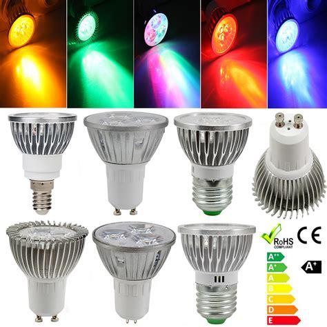 e27 e14 gu10 mr16 3w 3 led energy saving spot light spotlight l bulb 12v 220v ebay