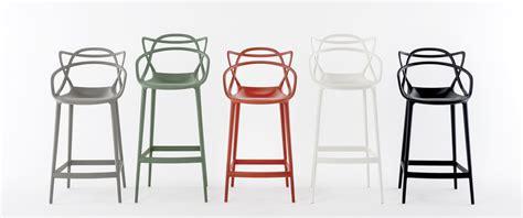 chaise kartel chaise de bar masters h 65 cm polypropylène vert sauge