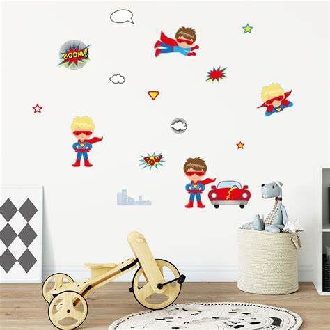 sticker mural enfant sticker enfants h 233 ros stickers chambre enfants