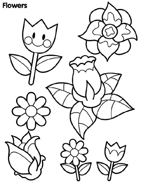 spring flowers coloring page crayolacom