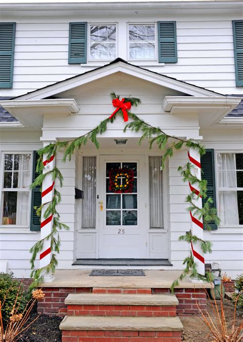 decorating porch column for xmas simple home preparation tips for stress free