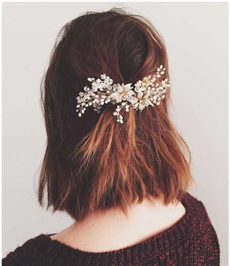 christmas party hairstyles for short hair the best short