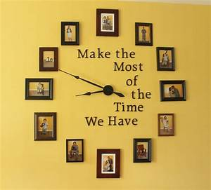 Easy diy large photo wall clock home decor project for How to make a wall clock with pictures