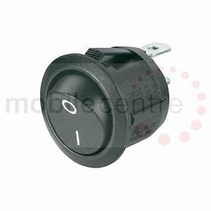 24 Volt Black Round On    Off Rocker Toggle Switch 10a