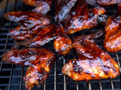 grilled korean chicken wings food fire