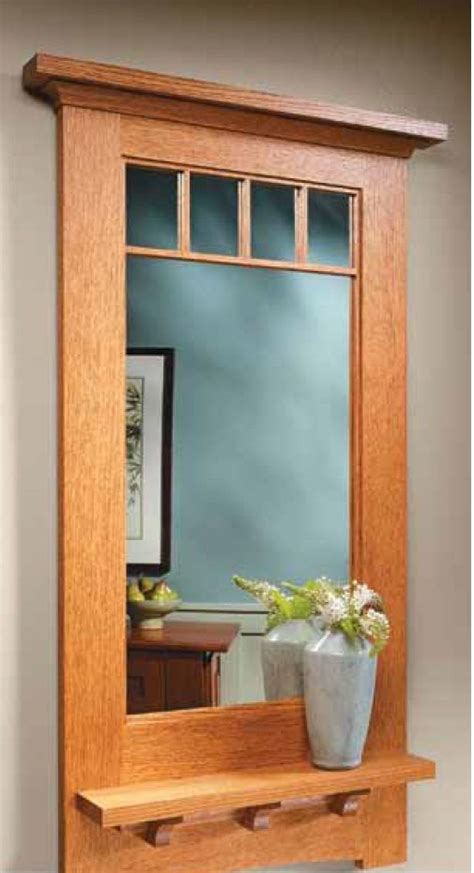 craftsman style wall mirror woodsmith plans pinterest