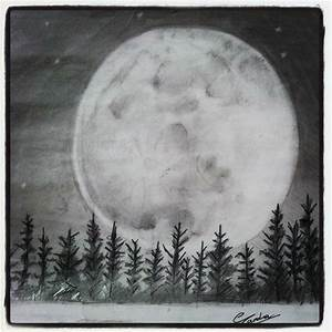 FULL MOON SKETCH | ART with PENCILS ! | Pinterest ...