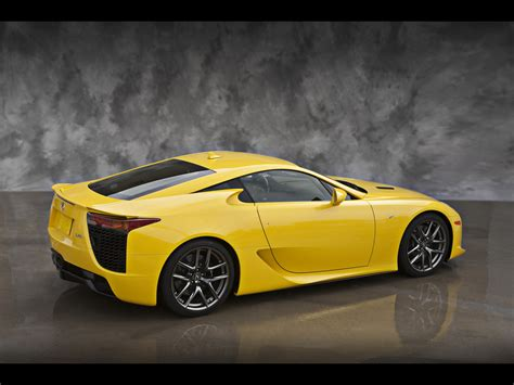 lexus yellow 2012 lexus lfa yellow rear and side 2 1280x960 wallpaper