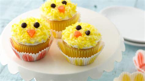 easter chicks cupcakes recipe  betty crocker