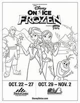 Coloring Disney Frozen Ice Tickets Presents Win Teachablemommy sketch template